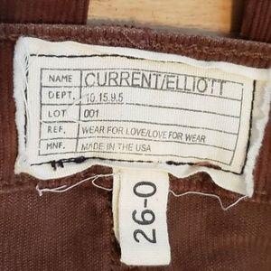 Current/Elliott Jeans - CURRENT/ELLIOTT Brown Corduroy Flare Pants 26